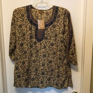 3/4 sleeve loose fitting top